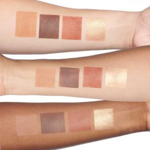 4-in-1 Skin Perfecting Powders Face Palette in Dark-Deep