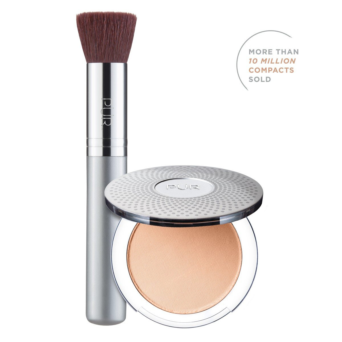 TRY PÜR! 4-in-1 Pressed Mineral Makeup and Brush Kit in Blush Medium
