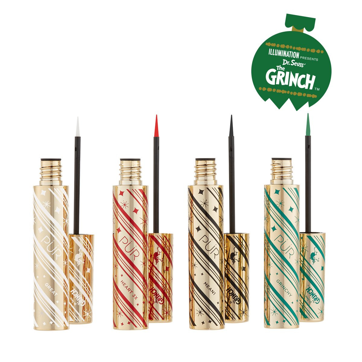 The Grinch™ Heart Line 4-Piece Liquid Eyeliner Set