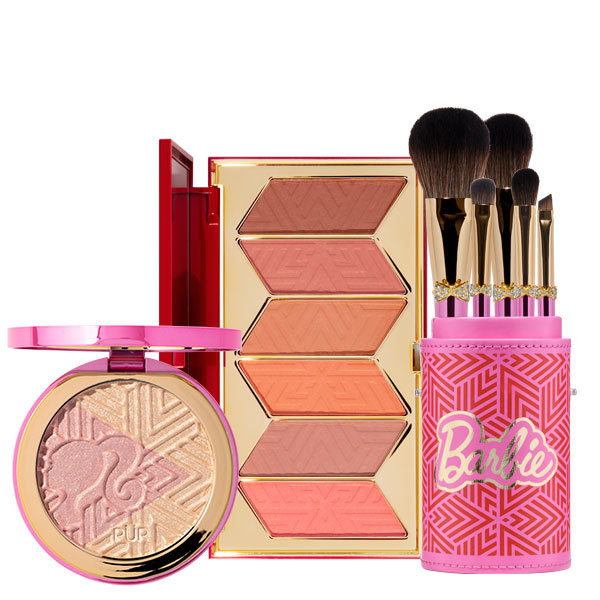PÜR X Barbie™ Blush, Highlighter & Brush Kit Bundle