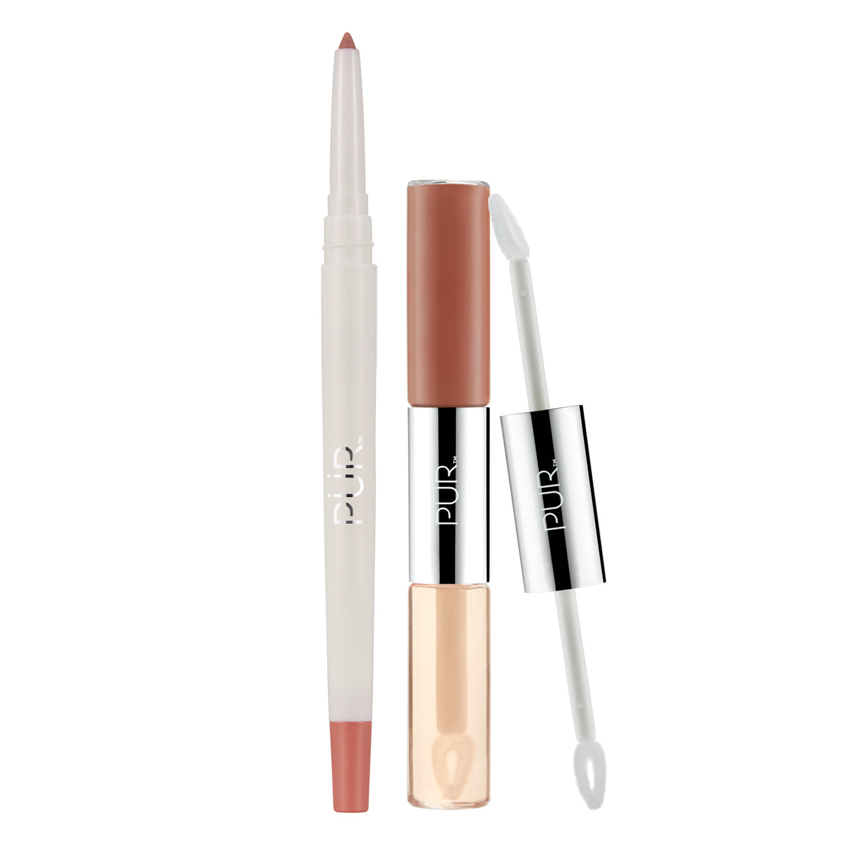 4-in-1 Lip Duo & Liner Bundle in Newlywed/Tutu