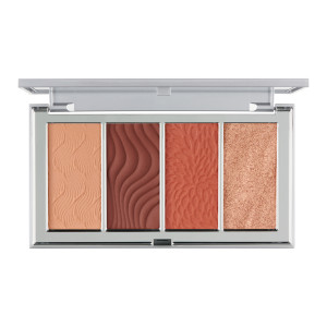 4-in-1 Skin Perfecting Powders Face Palette in Dark-Deep