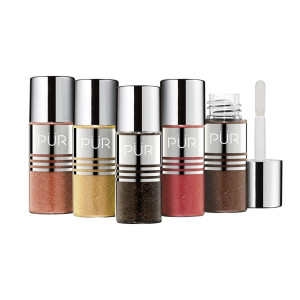 PUR Quickpro Pure Pigment Eye Polish Base & Top Coat Glitters 5-Piece Eye Polish Kit